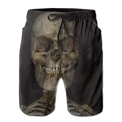 LarissaHi Herren Skeleton Skull Board Shorts Badehose 2XL (Anzug Minion Hund)