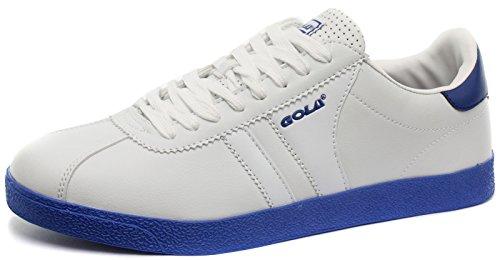Gola Amhurst Uomo Sneaker, Bianco-Blu, Taglia 42