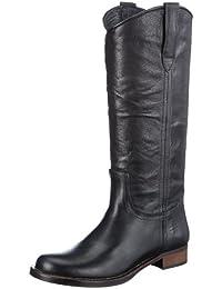 HIP D1810 Black Leather - Botines de cuero mujer