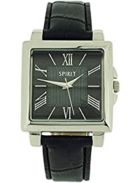 Spirit Gents Analogue Black - Black Crocodile Effect Strap Casual Watch ASPG13