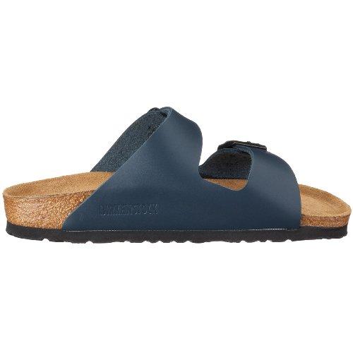Birkenstock Classic Arizona Leder Unisex-Erwachsene Pantoletten Blau (Blau)