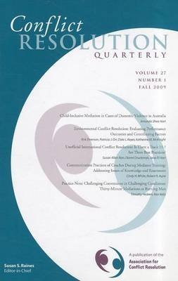 [Conflict Resolution Quarterly] (By: CRQ (Conflict Resolution Quarterly)) [published: November, 2009]