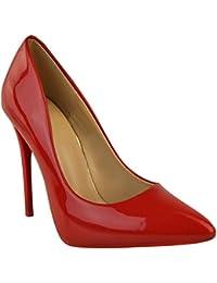 FASHION Thirsty nero da donna scarpa décolleté tacco alto alla moda da  occasione formale FESTA misura 36acdc285bd