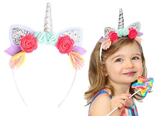 (California Tot Stirnbänder für Mädchen mit Glitter Ohren einer Größe Einhorn)