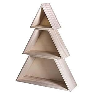 Rayher 62690000Albero di Natale, FSC 100per cento, 3pezzi, legno, Multicolore, 34,7x 9,9x 45cm