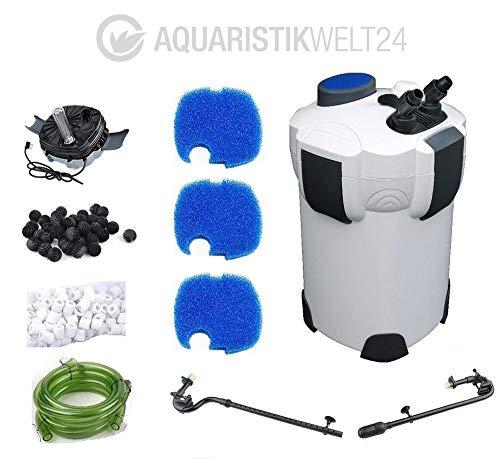 AquaOne Aquarium Außenfilter HW-304B 2000 L/h Stufen UVC Filtermaterial Pumpe Filter Schwammfilter Leise