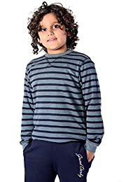 Grand Derby Striped Kid's Round Neck Striper Full Sleeve Sweater …