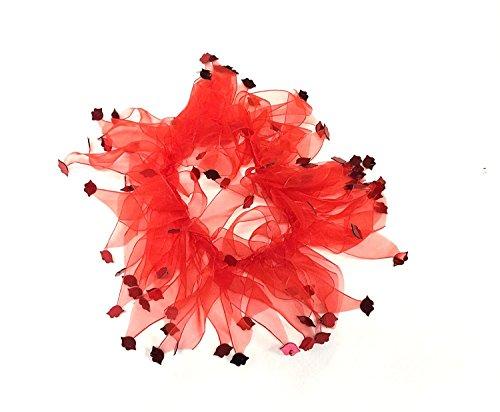 Day Lippen Deko Hund Halsband, Medium, Rot ()