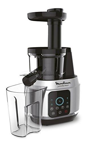 Moulinex  Juice and Clean ZU420E10 - Licuadora para frutas y verduras, control pulpa ajustable, prensado frío y fácil limpieza, panel táctil, 2 filtros y boquilla antigoteo
