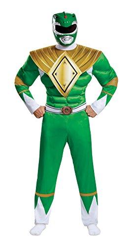 Disguise Power Rangers Men's Green Ranger Fancy Dress Costume 2X-Large