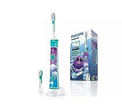 Philips Sonicare HX6322/04 elektrische Zahnbürste für Kinder mit Bluetooth und lustiger App