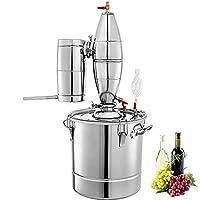 Fonctionnalité:   - Kit de brassage à domicile pour distillateur d'alcool inoxydable Moonshine Wine Making Boiler   -Acier inoxydable 304 de qualité alimentaire, plus sain et plus durable   -Grand espace de purification, effet plus idéal   -Les mé...