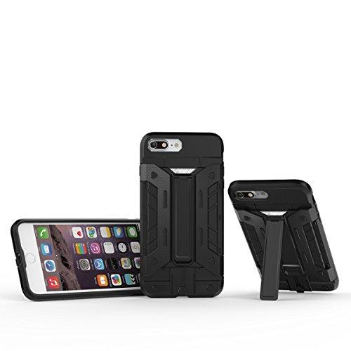 IPHONE 7 Coque,EVERGREENBUYING [Robot-Armor] léger 2 en 1 iPhone7 Cases [Metal Slate] Housse Etui Premium Kickstand Bumper Hard Shell Back Coque Case Pour iPhone 7 4.7 inch Gris Argent