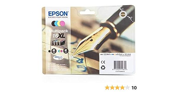 Epson Druckerpatronen Multipack 16xl 4 Farben Bürobedarf Schreibwaren