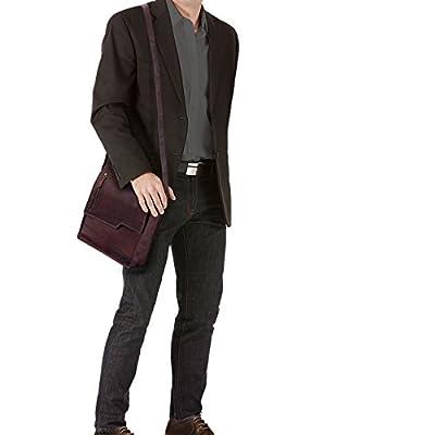 STILORD 'Mario' Vintage Sac Bandoulière pour Hommes en Cuir Sacoche pour Tablette Besace Sac Messager Sac à l'Épaule