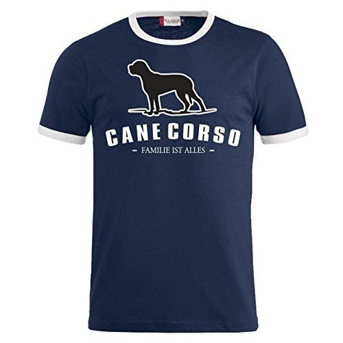 Spaß kostet Männer und Herren T-Shirt Cane Corso - Familie ist Alles Größe S - 8XL Dunkelblau/Weiß