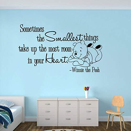 wandaufkleber 3d Wandaufkleber Schlafzimmer Winnie The Pooh Wandtattoo Aufkleber Kinderzimmer Dekor Sagen Wandtattoo Baby Bär Thema Wandaufkleber Inspiring Zitat Wand (Pooh-der-bär-wand-dekor)