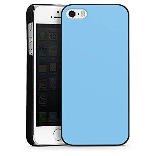 Apple iPhone 4 Housse Étui Silicone Coque Protection Bleu glace Bleu Bleu CasDur noir