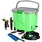 Radhe Hub High Pressure Portable Automatic Car Washer, Water Spray Gun | With All Accessories, 16 Liter Tank (Multi-Color)