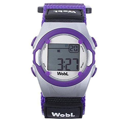 WobL Watch Viola- Orologio Bambino Sportivo Digitale con Cronometro Allarme Vibrazone per Ragazzi e Bambini, aiuta a scuola, aiuto promemoria, aiuto vasino