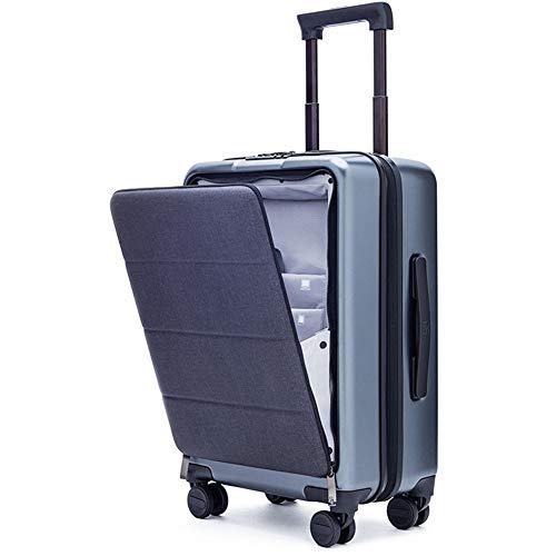 Bagaglio a mano super leggero abs rigido viaggio viaggio carry on cabina suitcase con 4 ruote zhangaizhen (colore : titanium ash, dimensioni : 51 * 37 * 23cm)