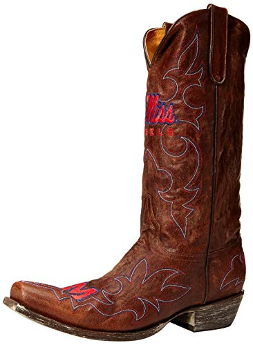 NCAA Mississippi Old Miss Rebels Gameday Herren Stiefel, Herren, MS-M018, Messing, 7.5 D (M) US