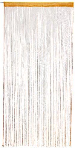 1001 Wohntraum F05 Fadenstore, 100 x 200 cm, Fadengardine, Fadenvorhang, Raumteiler, Gardinen, orange