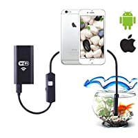 3. 5 M 6-LED 2. 0 Megapixel HD WiFi مقاومة للماء Endoscope Boroscope Inspection Camera لنظام تشغيل ويندوز لجهاز Android Phone Tablet