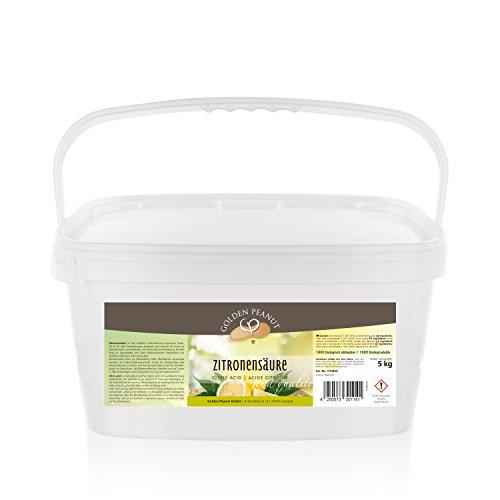 Zitronensäure monohydrat E-330, Lebensmittelqualität 5 kg Eimer -