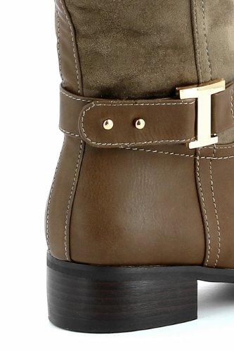 Ankle Bege Tendência E Ir Boots Botas Taupe wtxdqS