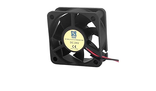 Aexit DC 24V Electrical equipment 50mmx50mmx20mm Brushless 7 Vanes Cooling Cooler Case Fan Ball Bearing