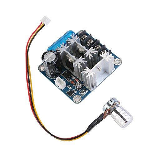 Foxnovo 6V-90V 15A Pulse Breite PWM DC Motor Speed Controller Switch (blau) - Motor Speed Controller