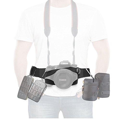 Coolway® Professional Multifunktions Kamera Gürtel 50 kg Andti-Skid Gurt für DSRL, SLR, Objektiv Tasche, Stativ, Make a fool of-Kamera und vieles mehr