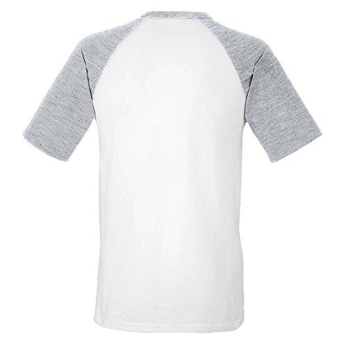 Fruit of the Loom - Kontrast T-Shirt 'Baseball T' Sunflower/Kelly Green