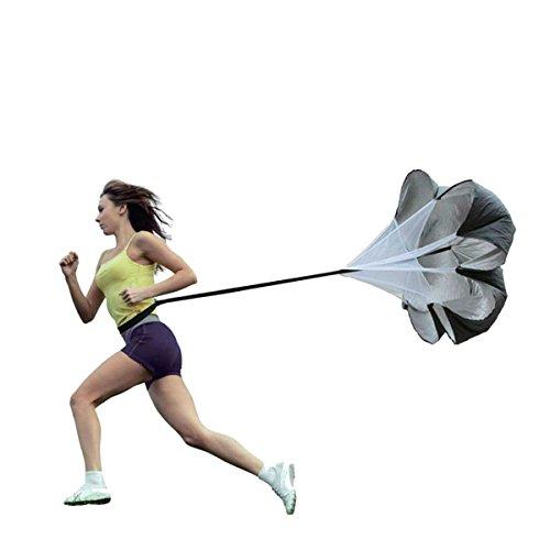 hemore Sprintfallschirm Speed Chute Widerstands Fallschirm physport 142,2cm Running Parachute für Beschleunigung Power Geschwindigkeit durch Widerstand und Overspeed Training (Chute Running)