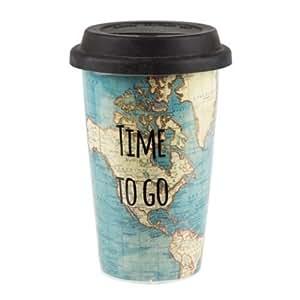Zeit zu gehen Reise-Becher Keramik Adventures Thermal Tee Kaffeetasse Spaß-Geschenk-Karte