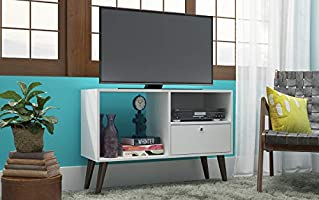 Brv Tv Stand Made Of Wood, White, 90 X 63 X 35 Cm