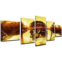 Fbhfbh Moderne Décor À La Maison Mur Art Toile Peinture Cadre Enfants Chambre Enfants Huile Photo 5 Panneau de Bande Dessinée Jeu Anime Street Fighter Affiche