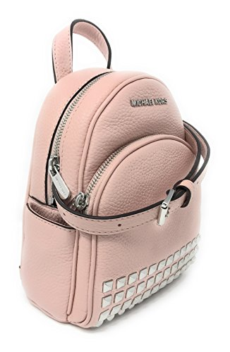 2f3748e8eb79 Michael Kors Women's Bag Studded Backpack Abbey Leather Mini Blossom Pink