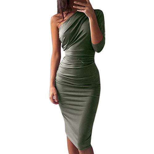 Hffan Ting Maxi Kleid Damen Großen Größen Sommerkleider Elegant Strandkleider Kurzarm V-Ausschnitt Split Lang Kleid -