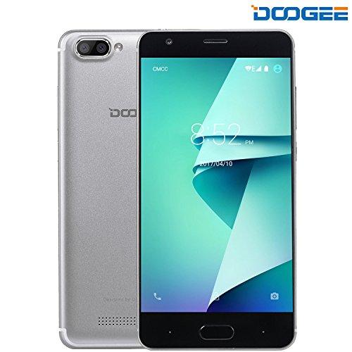 Smartphone Libre, DOOGEE X20L Móviles y Smartphones Libres, 5.0 Pantalla HD IPS - 4G Android 7.0 Telefonos - MT6737 4xCortex-A53, 1.25GHz - 2GB RAM+16GB ROM - 5.0MP Cámara- Dual SIM - Batería de 2580mAh (Plata)