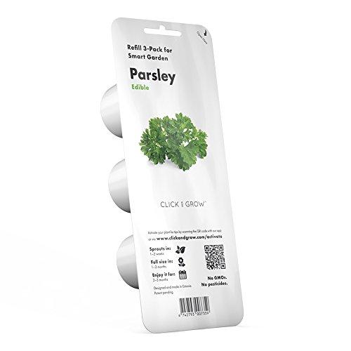 Click & Grow CLIC_PARSLEY_REFIL Recharges pour Jardinière Click and Grow Persil Pack de 3, Vert, 7 x 7 x 21 cm