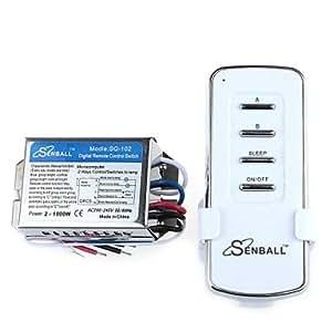 ZCLDIY SQ-102 AC 200-245V 2 canaux Multi-Function Remote Switch sans fil avec le contrôleur