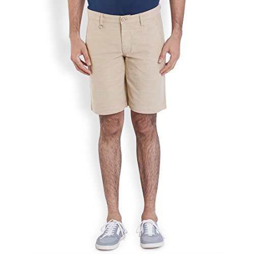 Park Avenue Light Yellow Solid Men's Short