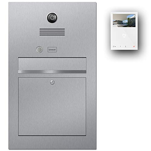 Briefkasten Videosprechanlage Edelstahl B3V Mini-HF (Beschriftungsfeld)