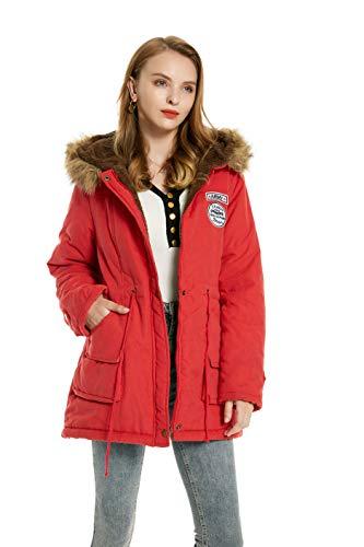 Romance zone piumini donna cappotto invernale da donna lungo parka con cappuccio foderato pelliccia giacca a vento manica lunga cappotto capispalla giubbotto donna