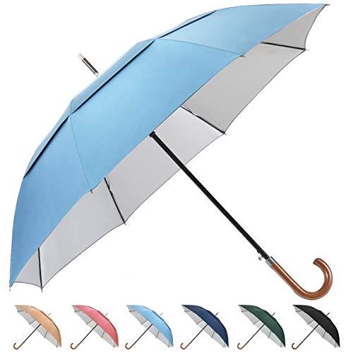 G4Free - Ombrello da Golf con Gancio UV UPF50, Anti-Vento, con Apertura Automatica, Grande, Grande, Doppia tettoia, ventilato, per Uomini e Donne, Scarpe da Fitness/Cross-Training da Uomo, 62inch