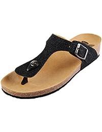 Scholl Edna 2.0 Dark Brown Bronze Plateau Schuhe Sandalen Zehentrenner Braun