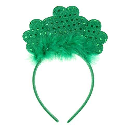 St Patricks Geschenke - FLAMEER Haarreif Haarband Kopfbedeckung Kopfschmuck mit