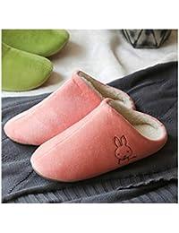 SONGYL Zapatillas en invierno Zapatillas De Mujer Parejas Zapatillas Calientes Zapatillas De Piso De Algodón para El Hogar Zapatillas De Ms./Men's, 44